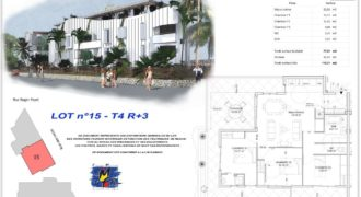 Appartement F4 R+3 en VEFA proche plage Etang Salé
